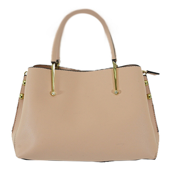 FQ&L กระเป๋าหนัง PU มีสายยาวสะพายข้าง เรียบหรู สีชมพู (FAPAH-009-R0-OF)