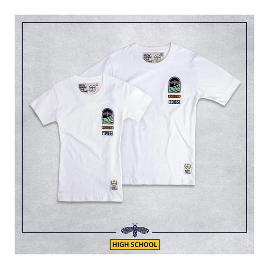 เสื้อยืด BEESY High school ขาว