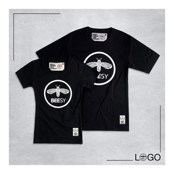 เสื้อยืด BEESY LOGO ดำ