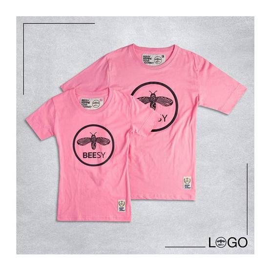 เสื้อยืด BEESY LOGO ชมพู