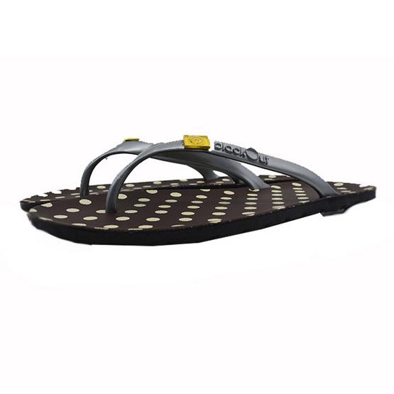 BlackOut รองเท้า รุ่น Flipper สีน้ำตาล