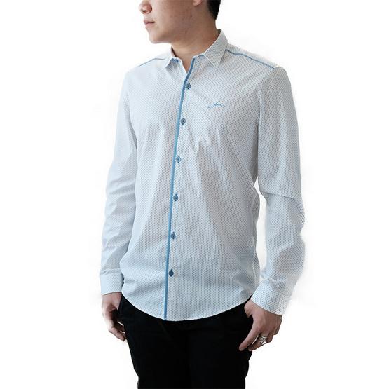 FQ&L  เสื้อเชิ้ตผู้ชาย ( MMFLJ-062-W0) สี WHITE