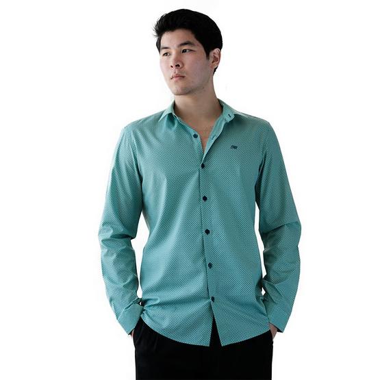 FQ&L  เสื้อเชิ้ตผู้ชาย ( MMFLJ-090-S5) สี BLUE SEA