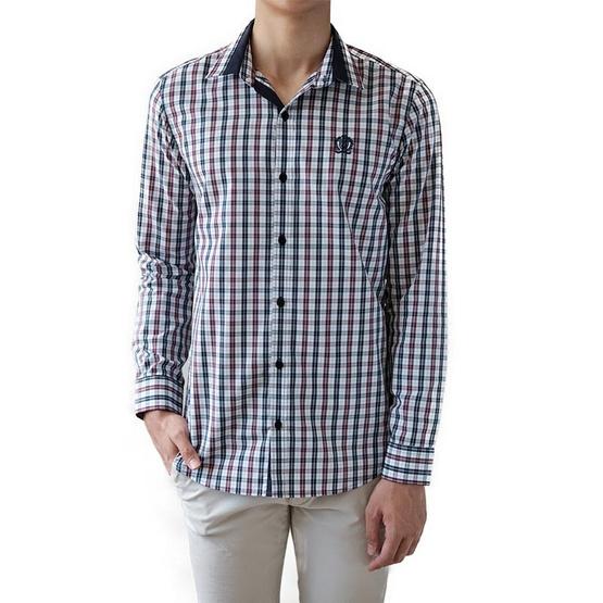 FQ&L  เสื้อเชิ้ตผู้ชาย ( MMFLJ-102-W0) สี WHITE