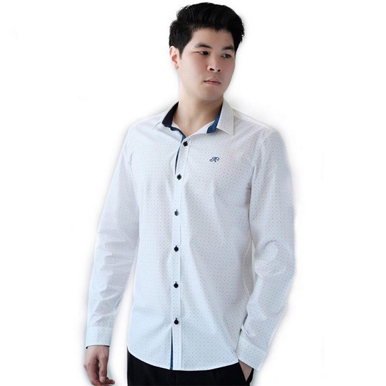 FQ&L  เสื้อเชิ้ตผู้ชาย ( MMFLJ-106-W0) สี WHITE