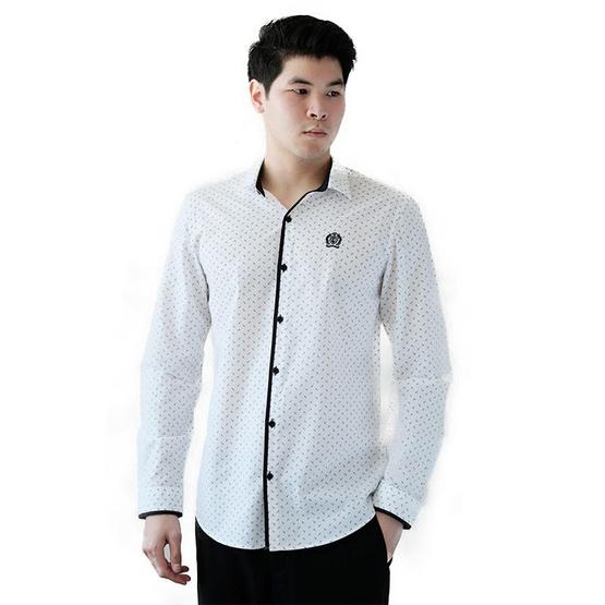 FQ&L  เสื้อเชิ้ตผู้ชาย ( MMFLJ-118-W0 ) สี WHITE