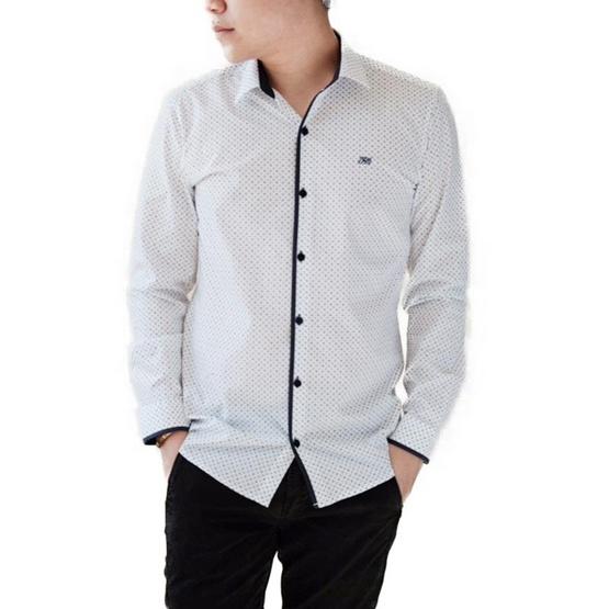 FQ&L  เสื้อเชิ้ตผู้ชาย ( MMFLJ-119-W0 ) สี WHITE