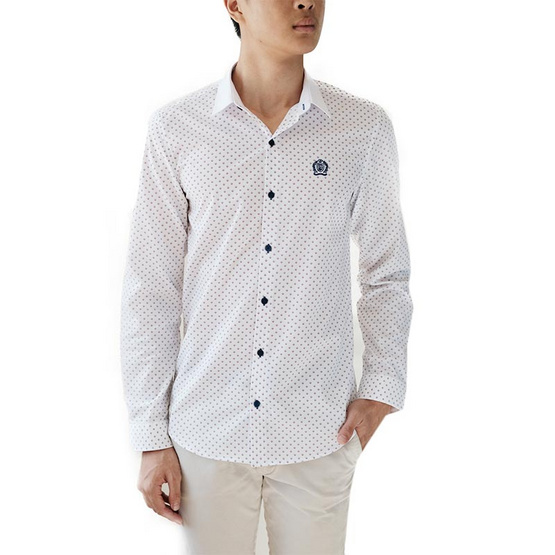 FQ&L  เสื้อเชิ้ตผู้ชาย ( MMFLJ-124-W0) สี WHITE