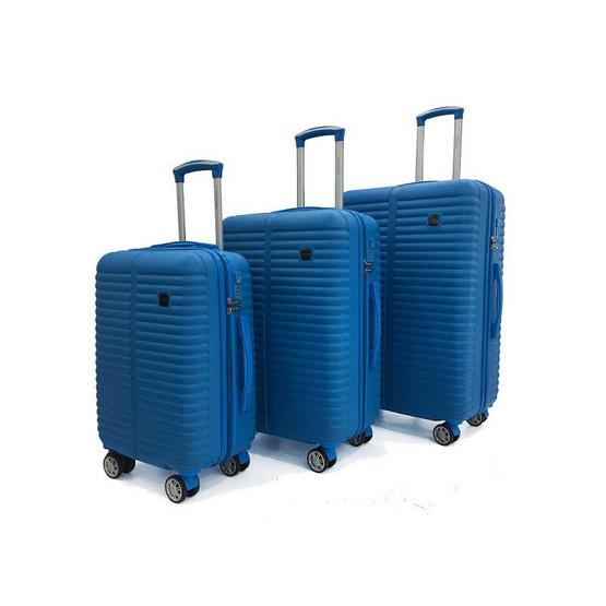 Blue Planet by BP WORLD กระเป๋าเดินทางชนิดแข็ง 4 ล้อคู่ เซ็ต 3 ใบ รุ่น 12325 ขนาด 20*24*28 นิ้ว สีฟ้า