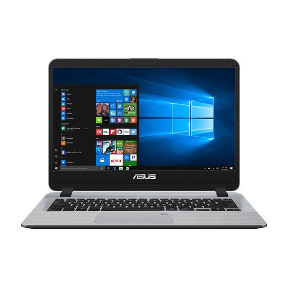 Asus Notebook X407UF-BV047T i5-8250U 1.6GH 4G SSD256 V2G W10 Stary Grey IMR with hairline