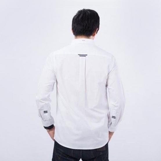 Quattro เสื้อเชิ้ตแขนยาว BackStripe