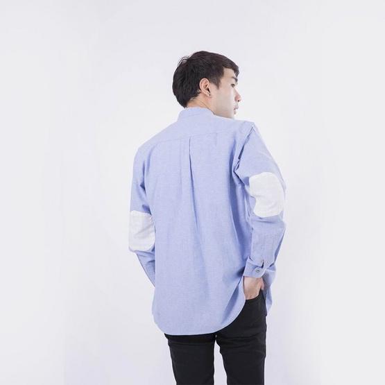 Quattro เสื้อเชิ้ตแขนยาว ChineseCollarElbow