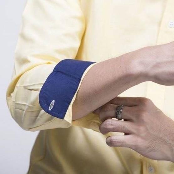 Quattro เสื้อเชิ้ตแขนยาว RedYeBlueStripe