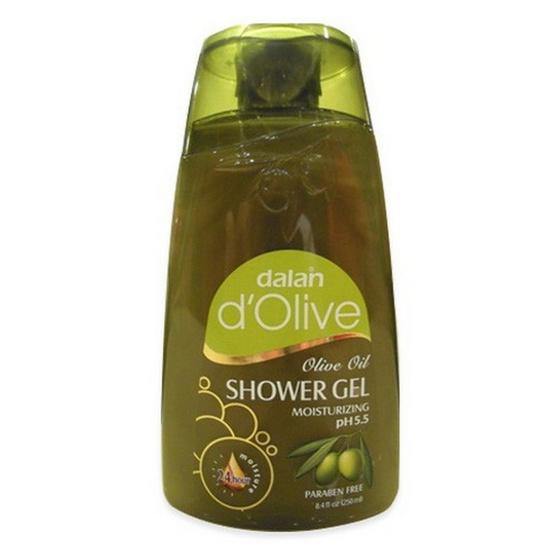 Dalan d'Olive Shower Gel Olive Green Colour Liquid Soap Item 250 mL.