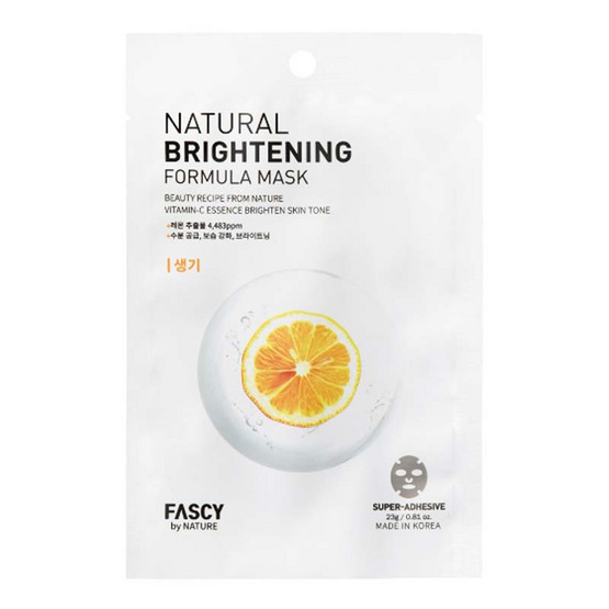FASCY BY NATURE NATURAL NUTRITION FORMULA MASK VITAMIN-C ESSECE BRIGHTEN SKIN TONE