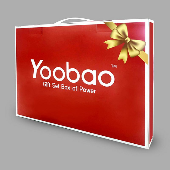 Yoobao Gift Set Powerbank M25V2 20000mAh พร้อมของแถม 3 รายการ ของแถมคละสี สาย Lightning