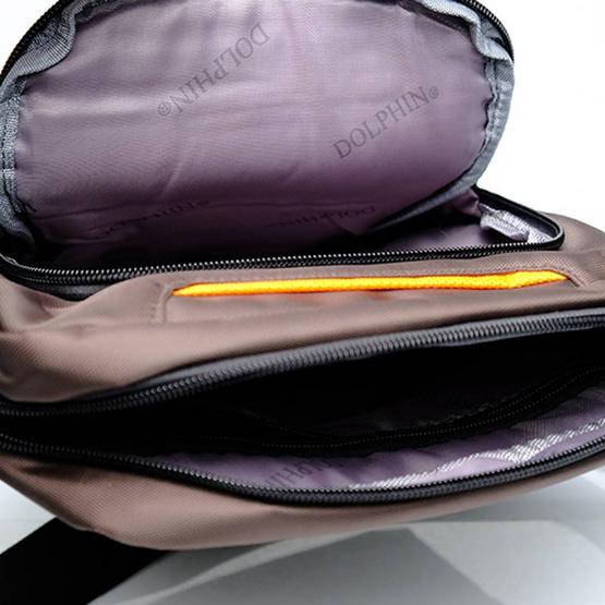 กระเป๋าสะพาย Dolphin 15235 สีน้ำตาล