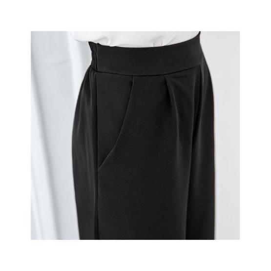 กางเกงผ้าฮานาโกะ ขา 6ส่วน 1466 สีดำ