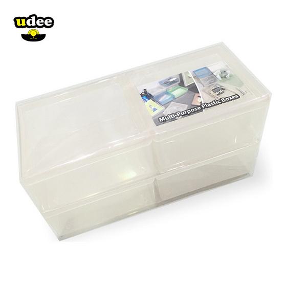 UDEE กล่องพลาสติกอเนกประสงค์ P4 (2 แพ็ค 8 ชิ้น)