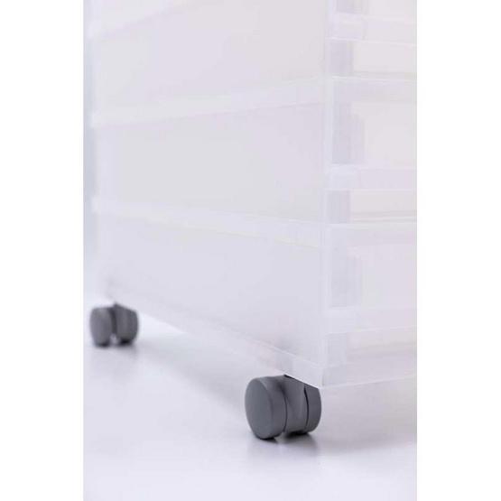 UDEE กล่องลิ้นชักล้อเลื่อน A4 รุ่น 8 ชั้น สีขาว