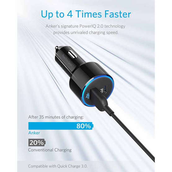 Anker PowerDrive Speed+2 1PD and 1USB-A