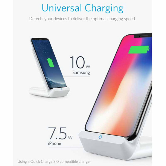 Anker PowerWave 7.5 Stand with Quick Charge 3 Charger