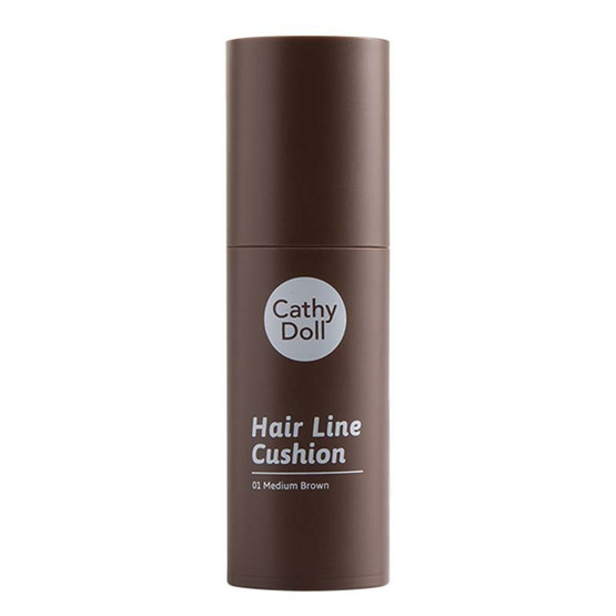 Cathy Doll Hair Line Cushion 2 g #01 Medium Brown
