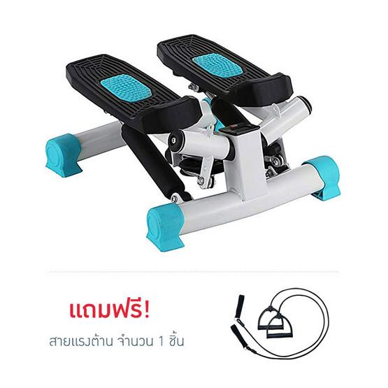 Thai Sun Sport Mini Stepper เครื่องบริหารต้นขา เอว น่อง พร้อมสายแรงต้าน สีขาว-ฟ้า