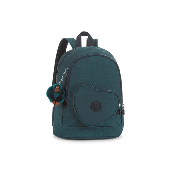 Kipling กระเป๋า Heart Backpack - Emerald Combo [MCK21086P42]