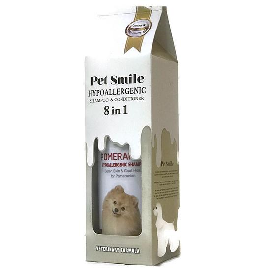 Pet Smile แชมพูสุนัขผสมคอนดิชันเนอร์ สำหรับปอม 280 มล.