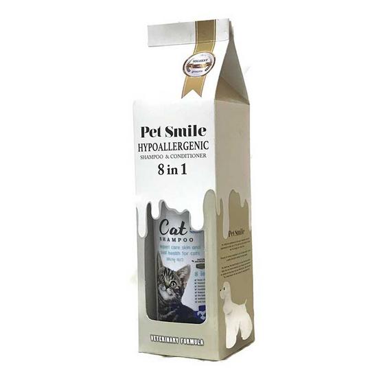 Pet Smile แชมพูแมวขนสั้น ผสมคอนดิชันเนอร์ 280 มล.