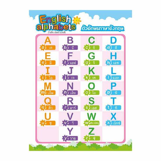 โปสเตอร์เด็ก 3 ภาษา 7 หมวด (ปกฟ้า)