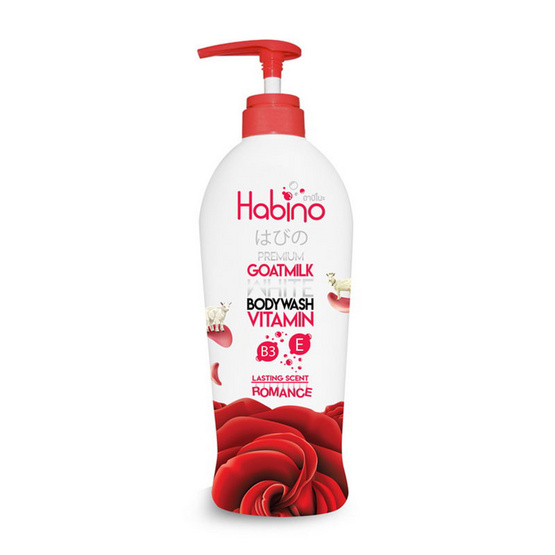 Habino Goatmilk Bodywash lasting scent Romance 500 ml