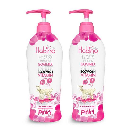 Habino Goatmilk Bodywash lasting scent pinnky 500 ml Pack2