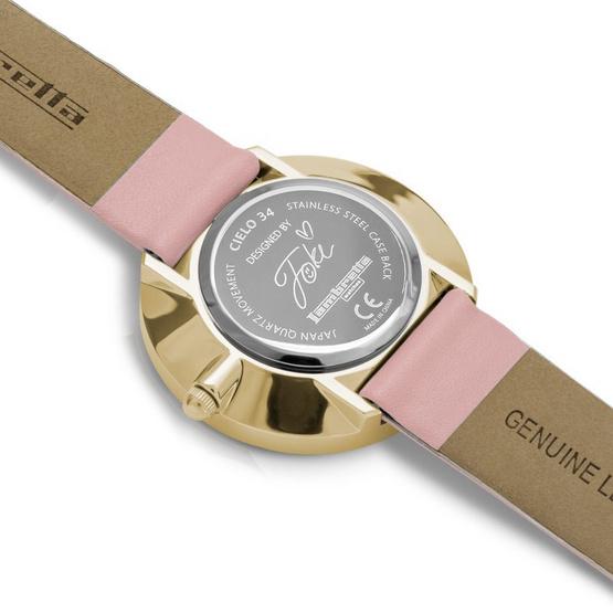 Lambretta นาฬิกาข้อมือ รุ่น 2901PIN-Foki 34 Leather Gold Pink