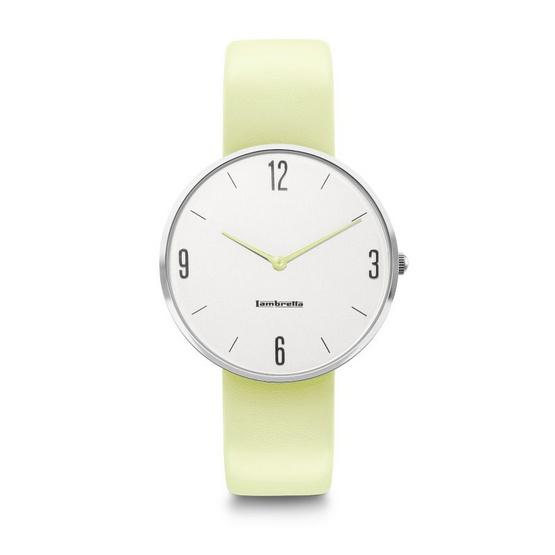 Lambretta นาฬิกาข้อมือ รุ่น 2218LIM-Numero 34 Silver White Lime