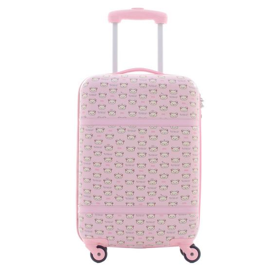 Rilakkuma กระเป๋าเดินทาง สกรีนลายริลัคคุมะ (O59004) ขนาด 20 นิ้ว สีชมพู
