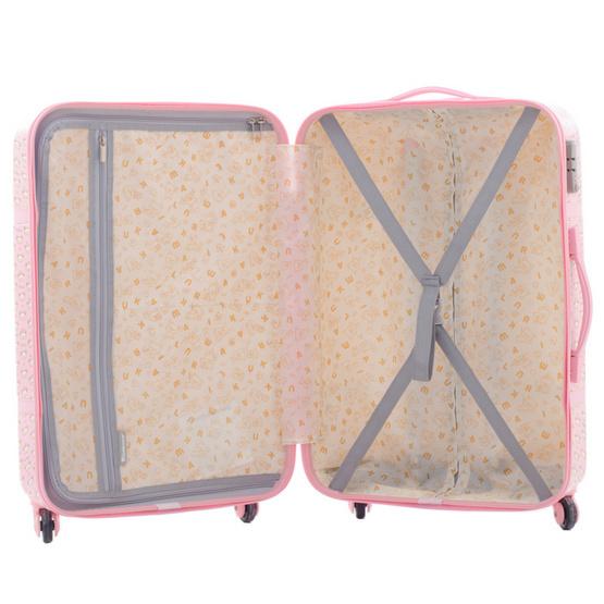 Rilakkuma กระเป๋าเดินทาง สกรีนลายริลัคคุมะ (O59004) ขนาด 24 นิ้ว สีชมพู