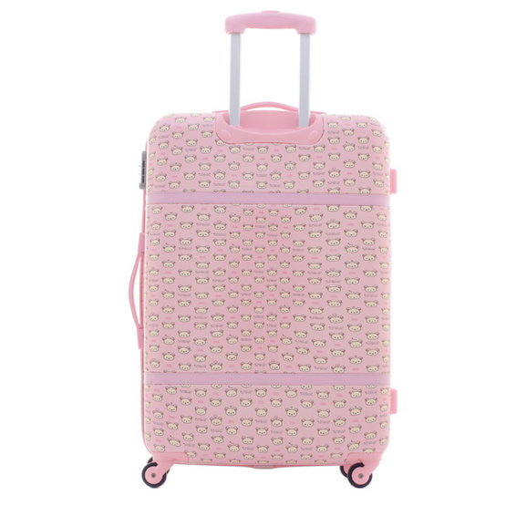 Rilakkuma กระเป๋าเดินทาง สกรีนลายริลัคคุมะ (O59004) ขนาด 28 นิ้ว สีชมพู
