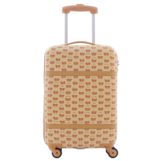 Rilakkuma กระเป๋าเดินทาง สกรีนลายริลัคคุมะ (O59004) ขนาด 20 นิ้ว สีน้ำตาล