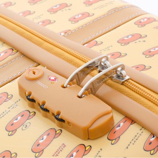 Rilakkuma กระเป๋าเดินทาง สกรีนลายริลัคคุมะ (O59004) ขนาด 24 นิ้ว สีน้ำตาล