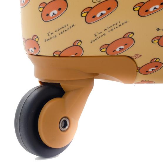 Rilakkuma กระเป๋าเดินทาง สกรีนลายริลัคคุมะ (O59004) ขนาด 28 นิ้ว สีน้ำตาล