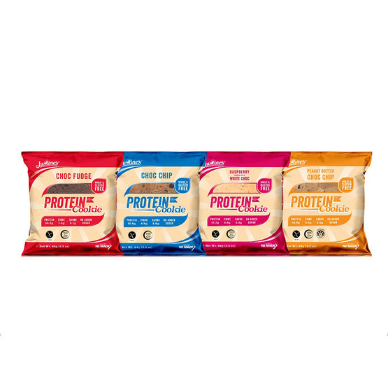 Justines Cookies & Brownie ผลิตภัณฑ์ทานแทนมื้ออาหารเพื่อควบคุมน้ำหนัก คละรส รวม 4 ซอง