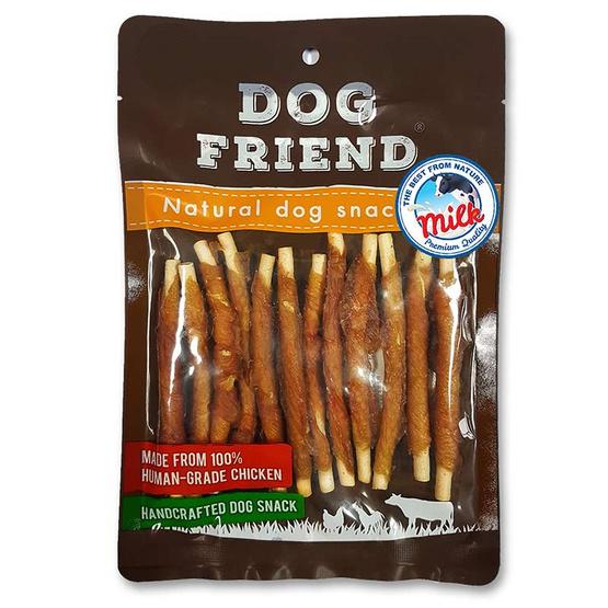 DOG FRIEND มิลค์กี้สติ๊กพันไก่ 130 กรัม x 2 แพ็ค