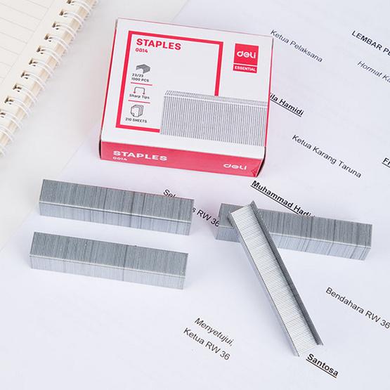 Deli ลวดเย็บกระดาษ 210 แผ่น เบอร์ 23/23 เย็บได้ 1,000 ครั้ง