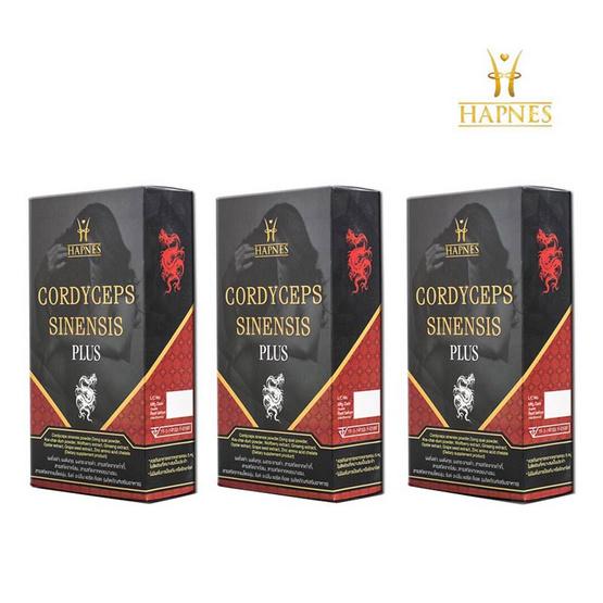 HAPNES ผลิตภัณฑ์บำรุง และ รักษา สุขภาพ สำหรับท่านชาย 30 แคปซูล 3 กล่อง ฟรี ตลับใส่ยา 1 ชิ้น