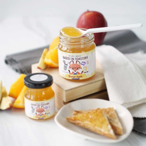 เบสท์ ออน โทสท์ สตอรี่ สเปรดทาขนมปังเพื่อสุขภาพรสส้มผสมแอ๊ปเปิ้ล 200 กรัม