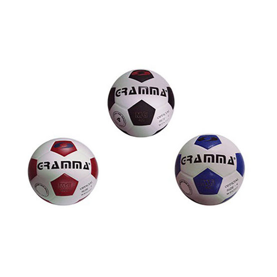 GRAMMA ฟุตบอลหนังอัด สีขาว-แดง