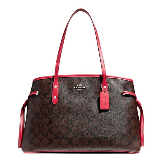 กระเป๋า COACH F57842 DRAWSTRING CARRYALL (SVLDD) [MCF57842SVLDD]