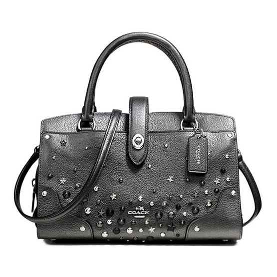 กระเป๋า COACH F59146 MERCER SATCHEL 24 WITH STAR RIVETS (SVM4Z) [MCF59146SVM4Z]